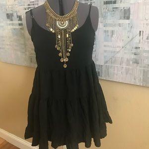 Brandy Melville black a line sleeveless blouse